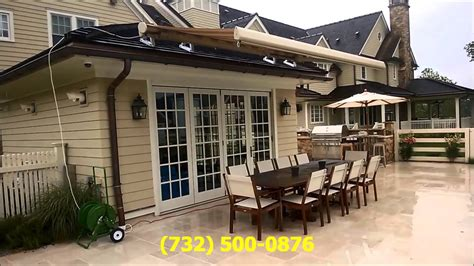 roof mounted  retractable awning  spring lake nj  youtube