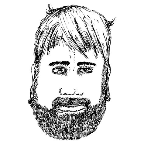 bearded man drawing  karl addison