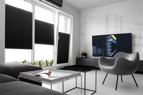 White Apartment by Bold Masculine Black And White Apartment Enhanced By