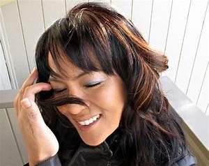 Dark Brown Hair With Caramel Highlights Underneath