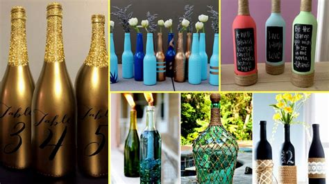 beautiful wine bottle decorating ideas diy recycled