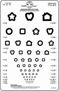 Pediatric Eye Chart Pictures Translucent Tumbling Quot E Quot Vision Test Chart Precision Vision