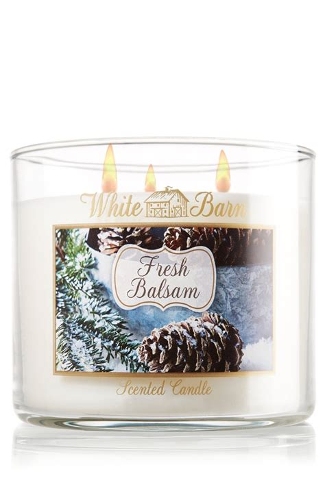 White Barn Candle Coupons by Bath Works White Barn Fresh Balsam 3 Wick Scented