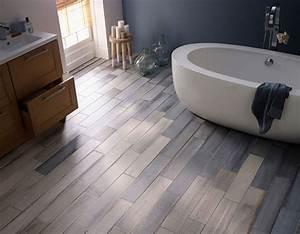 salle de bain carrelage bleu With sol stratifie pour salle de bain