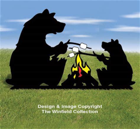 animals campfire bears shadow pattern