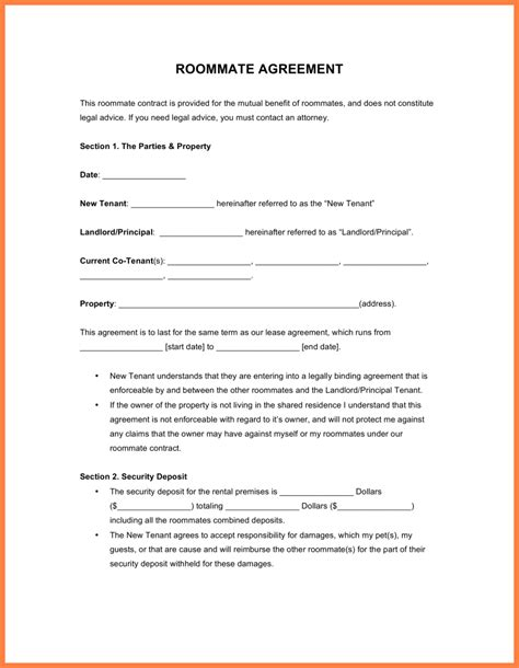 lease agreement sample rent a room lease agreement template 6 sample lease