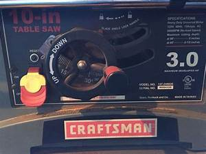Craftsman 10 Inch Table Saw Model 137 248830 For Sale In