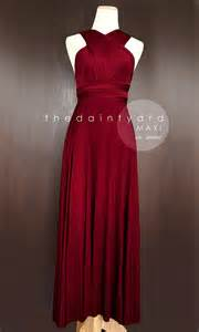 wrap bridesmaid dress maxi wine bridesmaid prom wedding infinity dress convertible wrap dress 2278492 weddbook