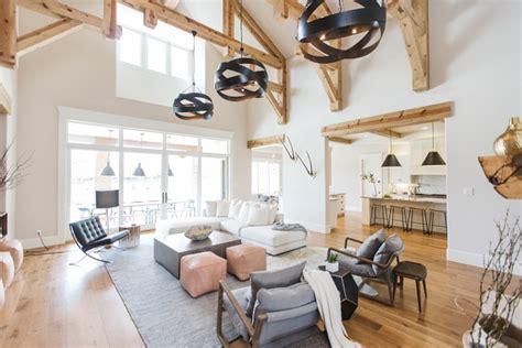 transitional farmhouse interior design home bunch