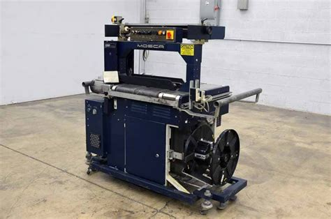 mosca ro tr  automatic strapping machine boggs equipment