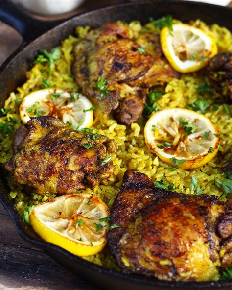 what to do with chicken one pot middle eastern chicken and rice ev s eats