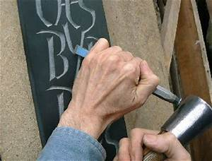 letter carving in stone With stone letter carving tools