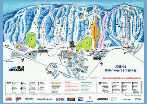Blue Mountain Ski Trail Map 108 Jozo Weider Blvd