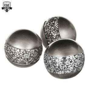 silver decorative balls schonwerk silver decorative orbs for bowls and vases set