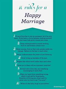 wedding advice the 10 for a happy marriage