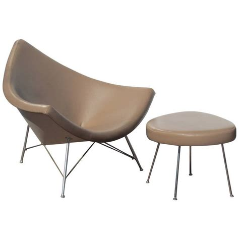 coconut chair and ottoman by george nelson for herman