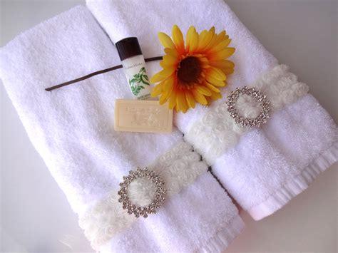 shabby chic bath towels rhinestone rose shabby chic bath hand towel white by augustave