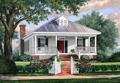 southern cottage house plan  metal roof wp architectural designs house plans