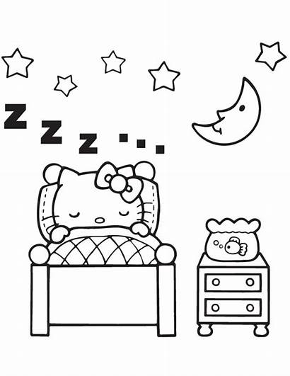 Coloring Colouring Bedroom Pages Sleeping Bed Clipart