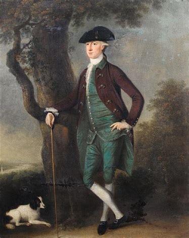 Portrait David Jenkins Brown Coat Blue Waistcoat