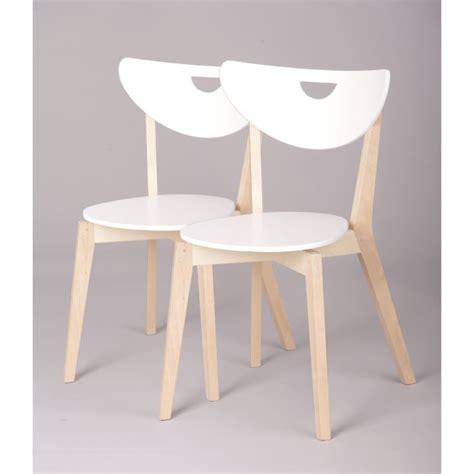 chaises blanc et bois miliboo chaises design bois et blanc laqu 233 le achat vente chaise blanc soldes cdiscount
