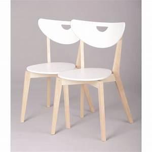 Chaise Bois Design : miliboo chaises design bois et blanc laqu le achat vente chaise blanc soldes cdiscount ~ Teatrodelosmanantiales.com Idées de Décoration