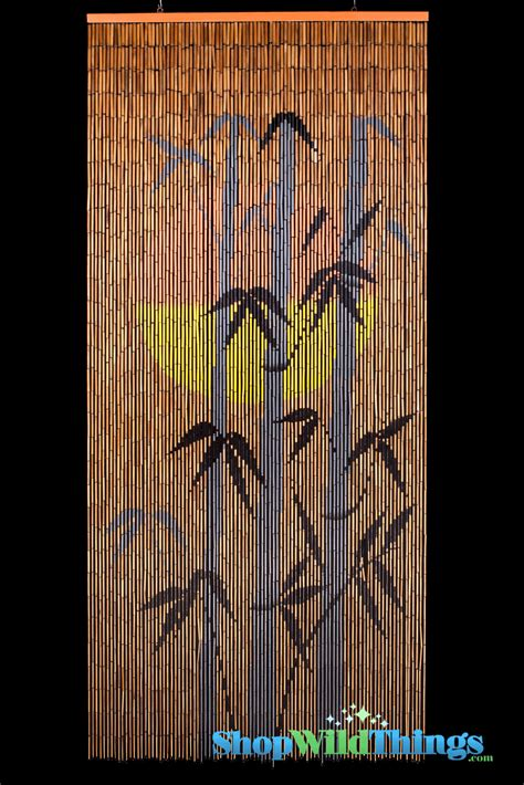 bamboo beaded door curtains painted painted bamboo beaded curtain with bamboo shoots and