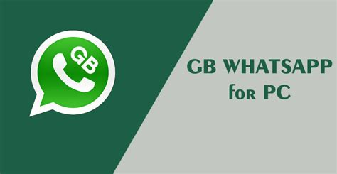 how to and install gb whatsapp on pc
