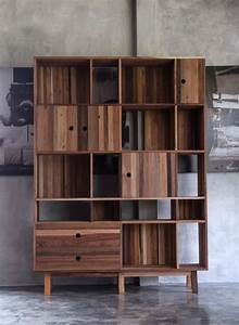 Modern, Furniture, Made, From, A, Mix, Of, Reclaimed, Woods