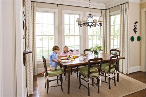 breakfast nook stylish traditional yet family friendly