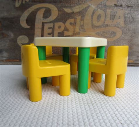 little tikes desk and chair vintage little tikes table and chairs green and yellow