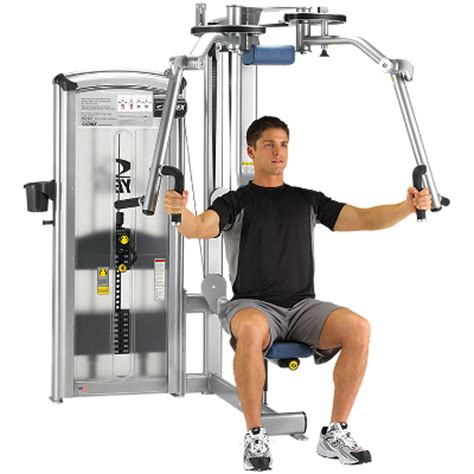 pec deck flys rear delts used selectorized exercise equipment