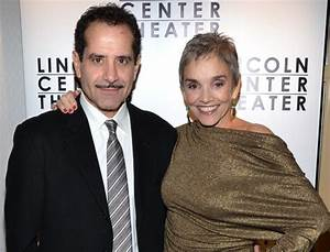 Three-time Emmy Award winner Tony Shalhoub (with his wife ...