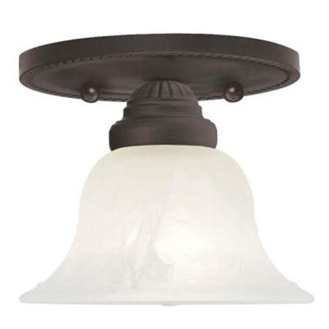 livex lighting tiesha 1 light bronze ceiling semi flush
