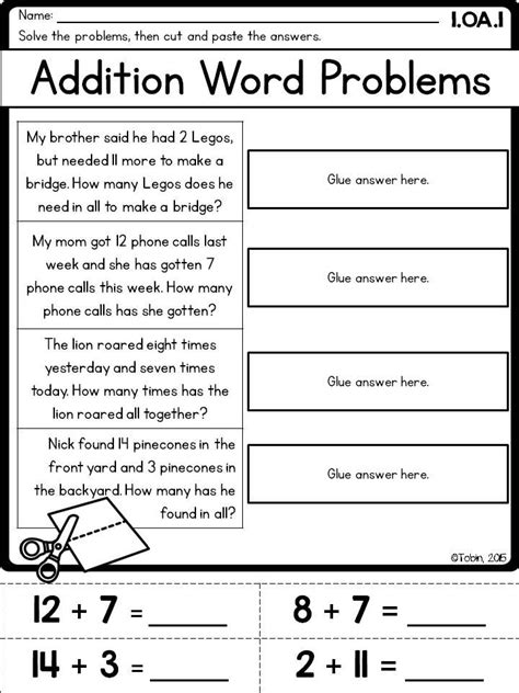 1st grade math printables worksheets operations and