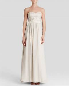 aidan mattox gown strapless lace bodice it started With bloomingdales wedding dresses chicago