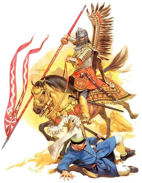 pouf siege charge of the winged hussar against ottoman turks