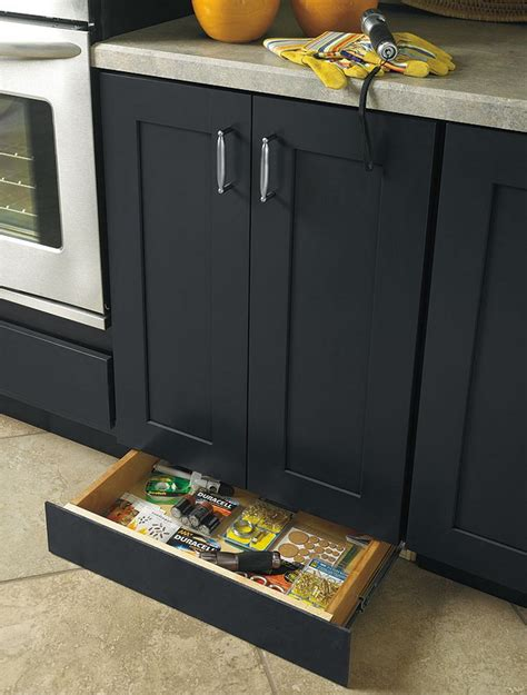 toe kick drawer  extra kitchen storage diy