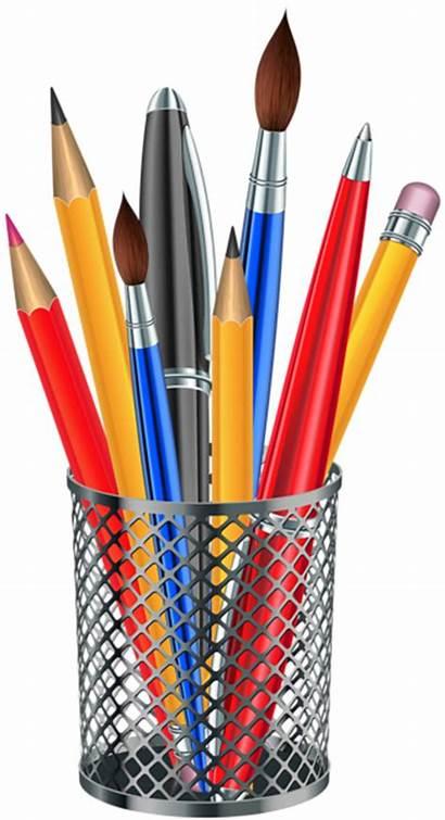 Transparent Clipart Cup Supplies Metal Pencil Background