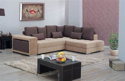 Small Sectional Sofa With Storage by Two Tone Fabric Modern Convertible Sectional Sofa W Storage