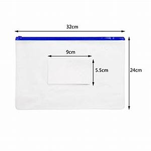 jpsor 10pcs poly zip envelope files 5 color zippers With poly zip envelope letter size