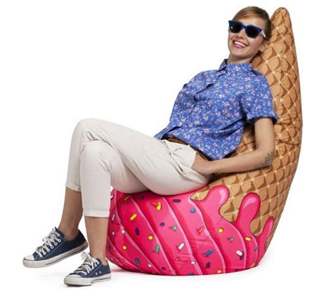 ice cream cone bean bag chair foodiggity