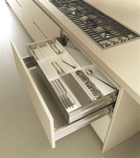 fineline drawer inserts stainless steel  white corian cutlery set  knife rack kitchen