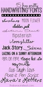 15 Free Pretty Handwriting Fonts - The Benson Street