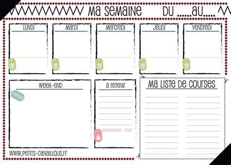 Un planning de ménage vierge à imprimer + une version préremplie pour vous inspirer. Menus de la semaine à imprimer - Plannings vierges PDF.