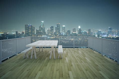 city top flore background wooden balcony city view stock image image of contemporary light 71082411