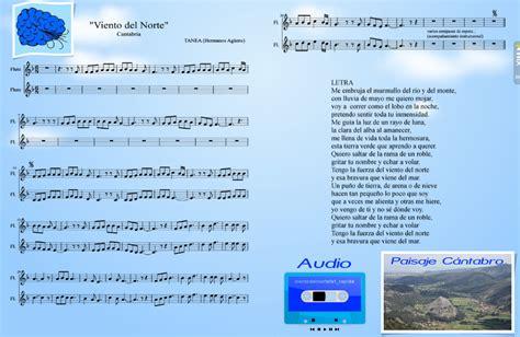 viento del norte cantabria partituras  clase
