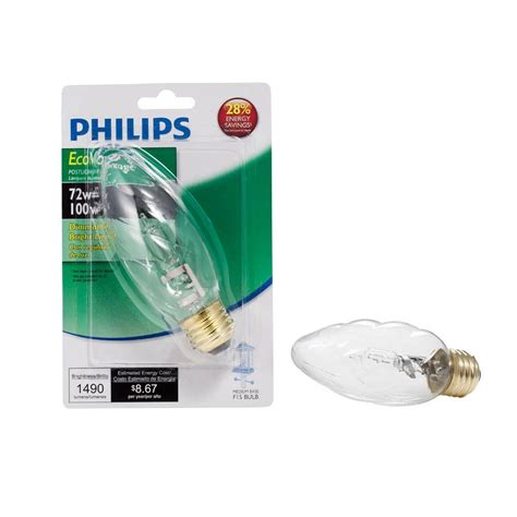 philips ecovantage 72w halogen f15 postlight light bulb