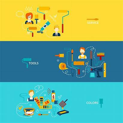 Banner Painting Vector Paint Clipart Bucket Graphics