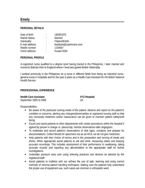 Exle Of Chronological Resume For Nurses chronological resume exle template